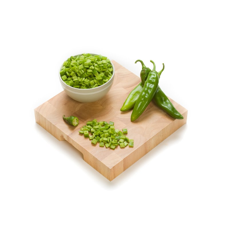 Chopped green chili